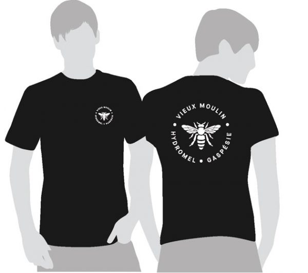 T-shirt-noir-logo